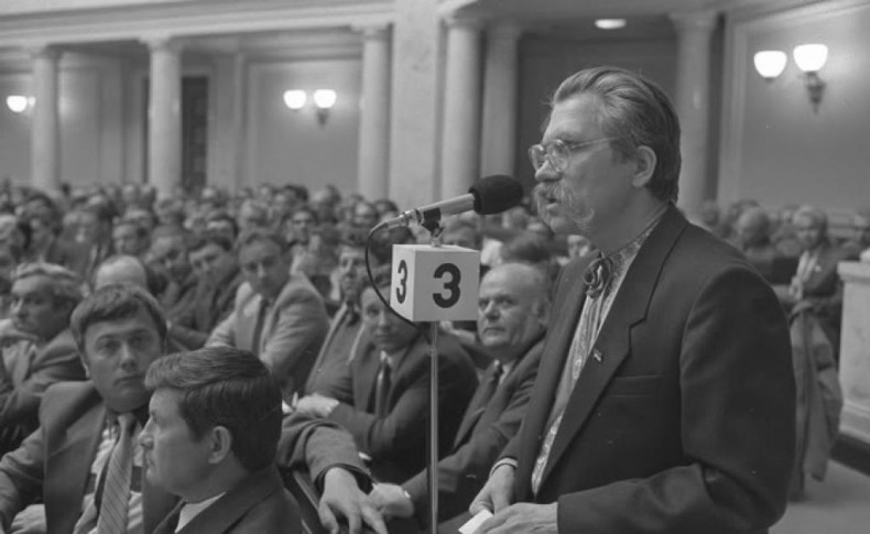 Levko Lukianenko in Parliament of Ukraine in 1991st year