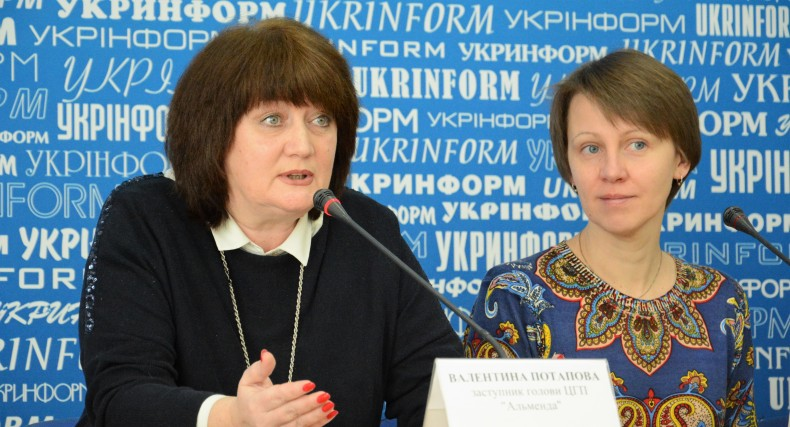 Valentina Potapova and Yulia Kazdobina, an Advisor to the Minister of Information Policy on Crimea