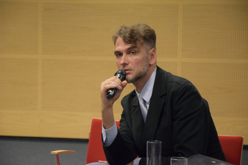 Oleksii Bida, speaker at the event and coordinator of the UHHRU Documentation Center