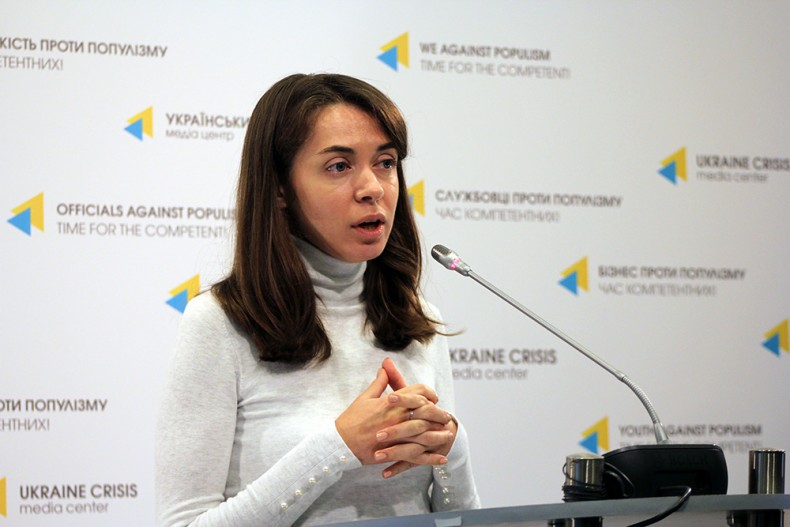 Daria Svyrydova, a lawyer of the Ukrainian Helsinki Human Rights Union