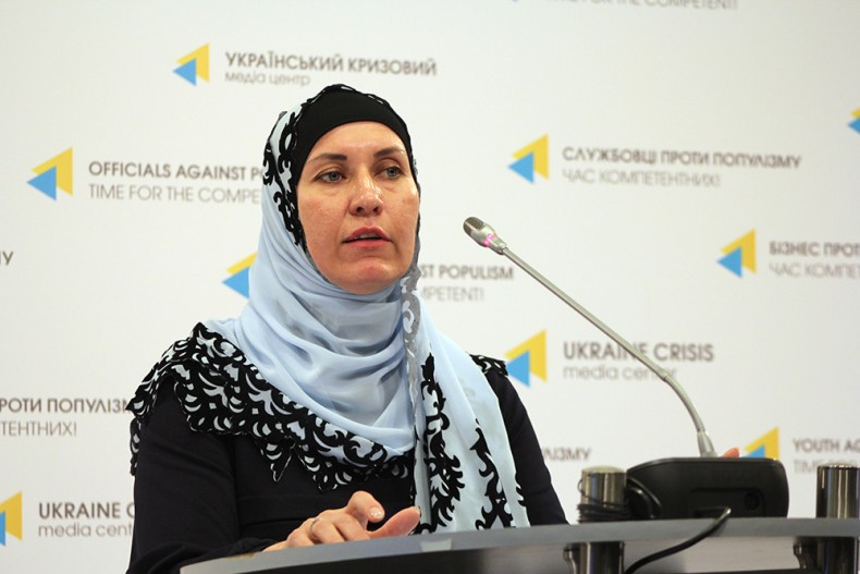 Lilia Hemedzhi, a lawyer assisting prosecuted members of peaceful gatherings in occupied Crimea