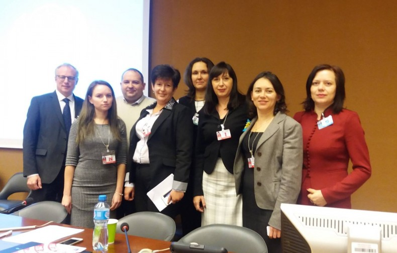 Representatives of the Ukrainian delegation in Geneva. Photo by UNDP Ukraine.