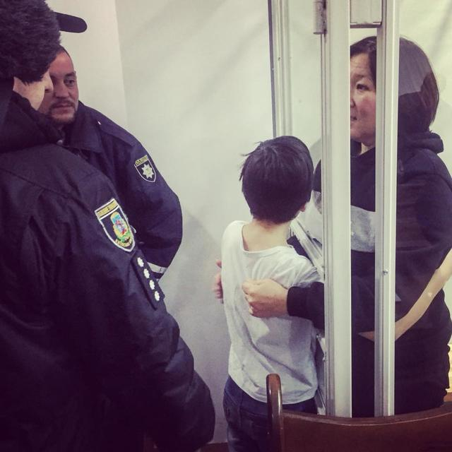 Zhanara Akhmetova was released today. Photo Censor.net