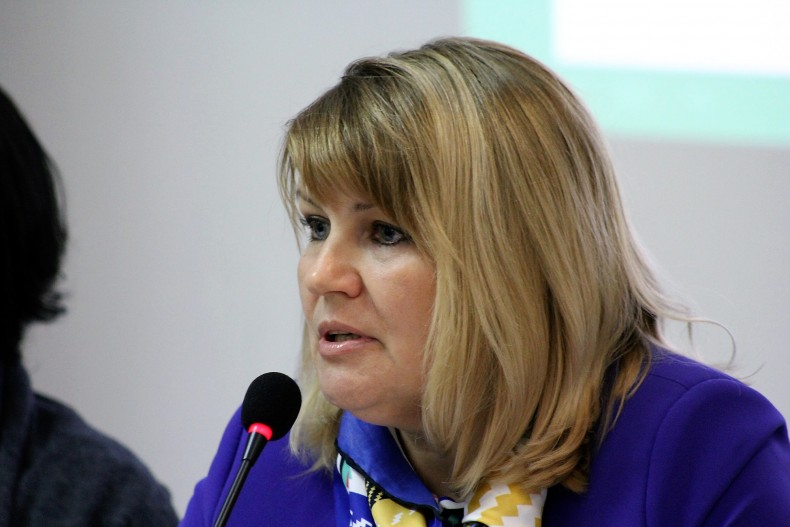 Olena Okhrimenko, Head of the Office of Control and Consideration of Citizens' Appeals of the Pension Fund of Ukraine