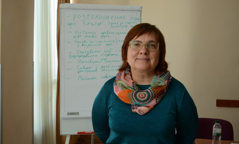 Natalya Kozarenko, coordinator of UHHRU legal aid centers