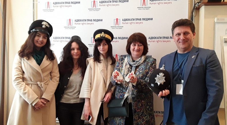 Oleh Martynenko, Valentyna Potapova and postgraduate students of the Institute of International Relations