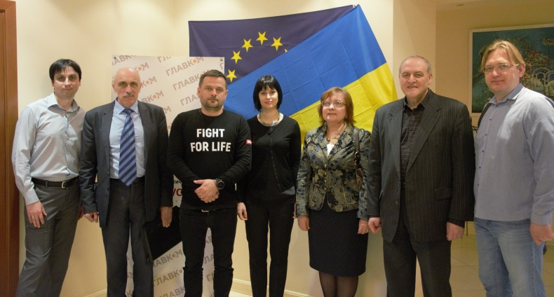 Representatives of UHHRU, Kharkiv Human Rights Protection Group and All-Ukrainian Network of People Living with HIV/AIDS